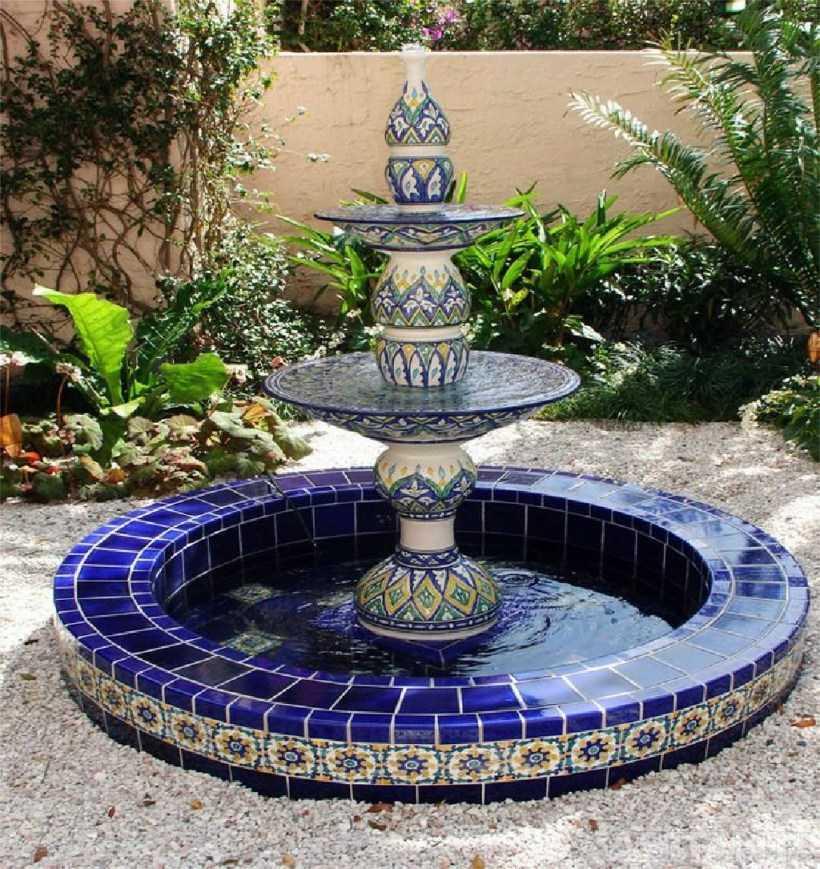 Садовые фонтаны: разновидности конструкций, выбор места для сооружения. Идеи красивого оформления своими руками (фото + видео)
