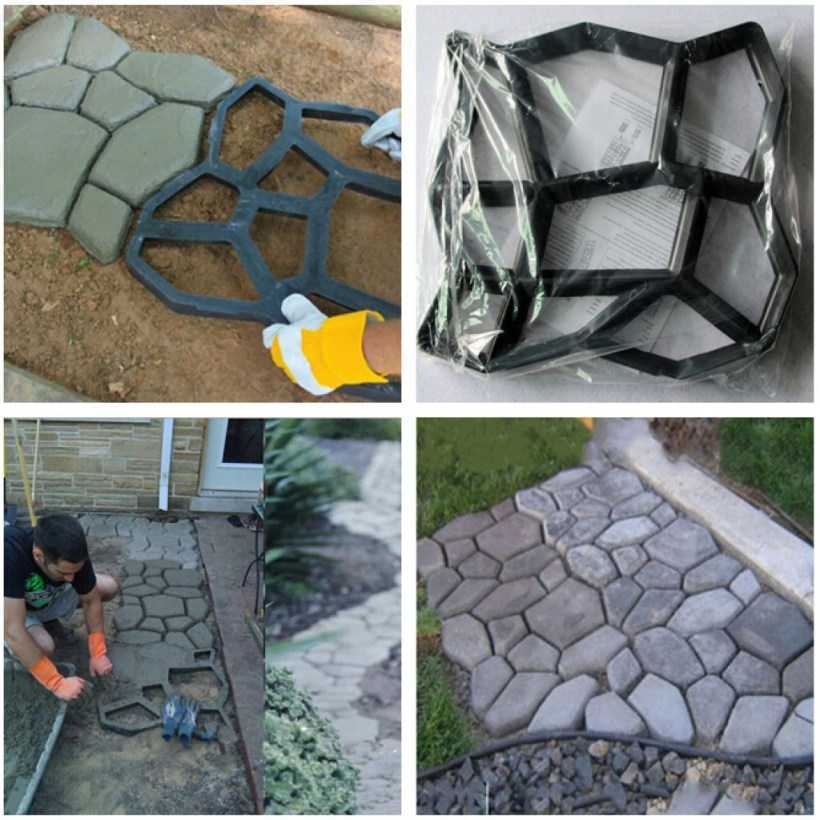 Форма для садовых дорожек: преимущества использования, варианты форм и материалов, инструкция по изготовлению своими руками