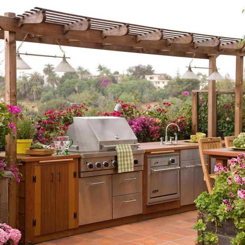 Летняя кухня на даче — виды построек и конструкций, оборудование для летней кухни, мастер-класс по сооружению своими руками